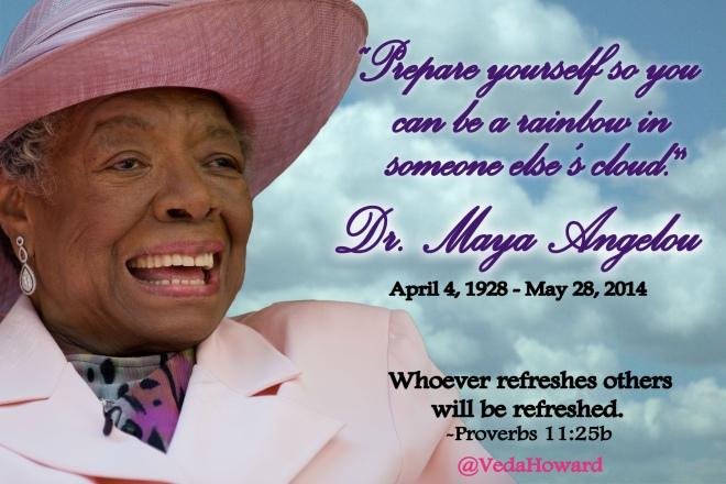 Maya Angelou Memorial quote