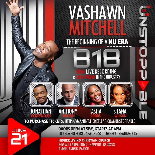 Vashawn Mitchell Live Recording