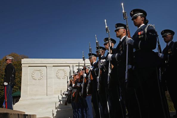 VP Biden Lays Wreath At Arlington National Cemetery On Veterans Day