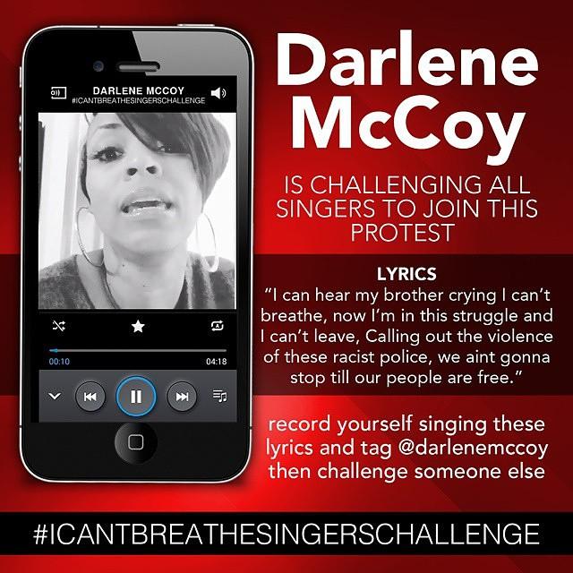 Darlene McCoy Garner protest