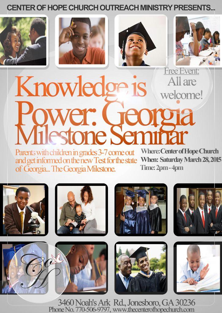 Knowledge Is Power: Georgia Milestone Seminar