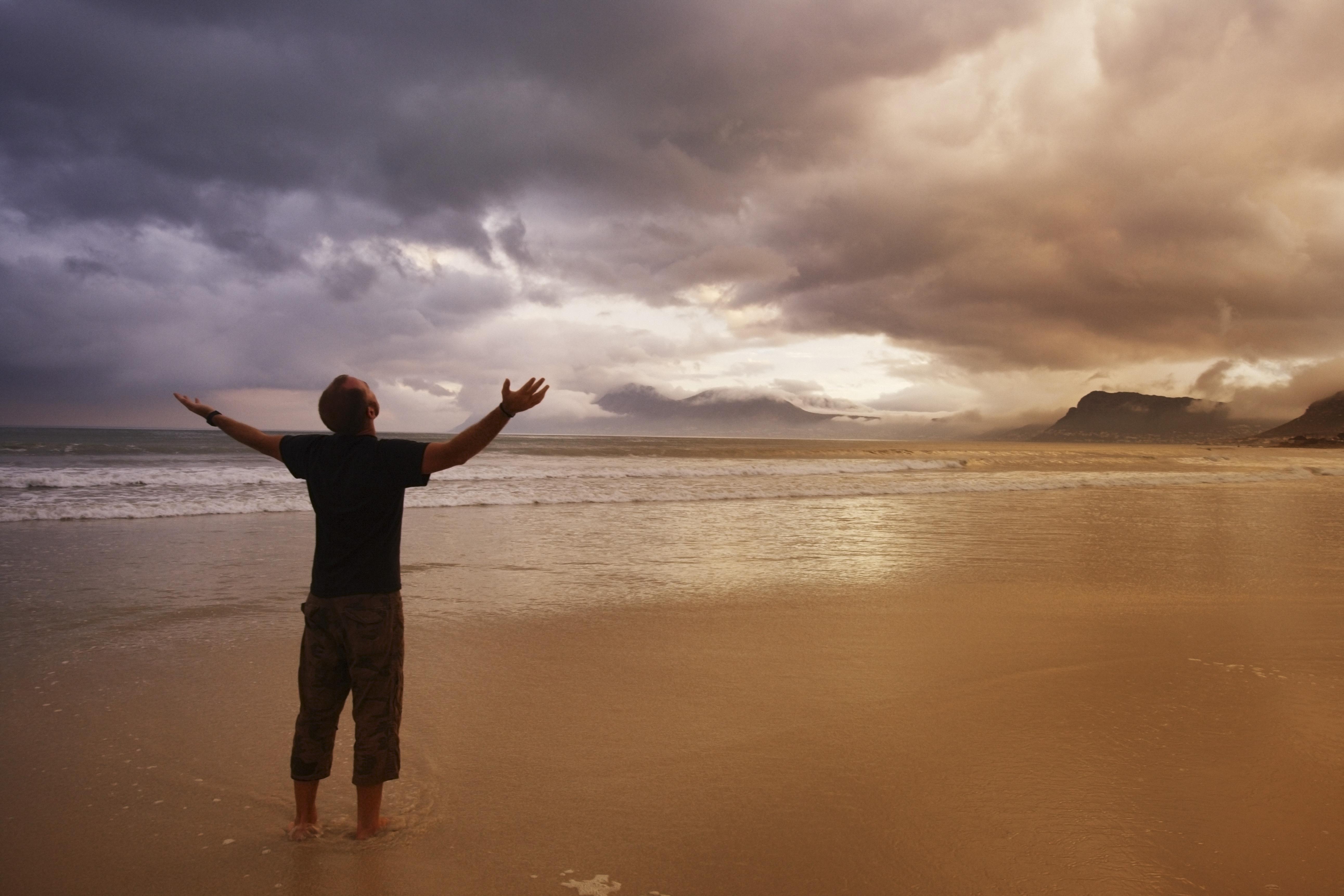 Worship on a beach
