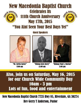 New Macedonia Baptist Church Anniversary