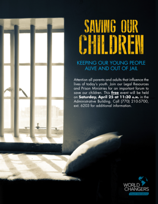 World Changers Saving Our Children flyer