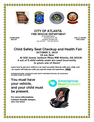 Child Safety Seat Checkup & Health Fair