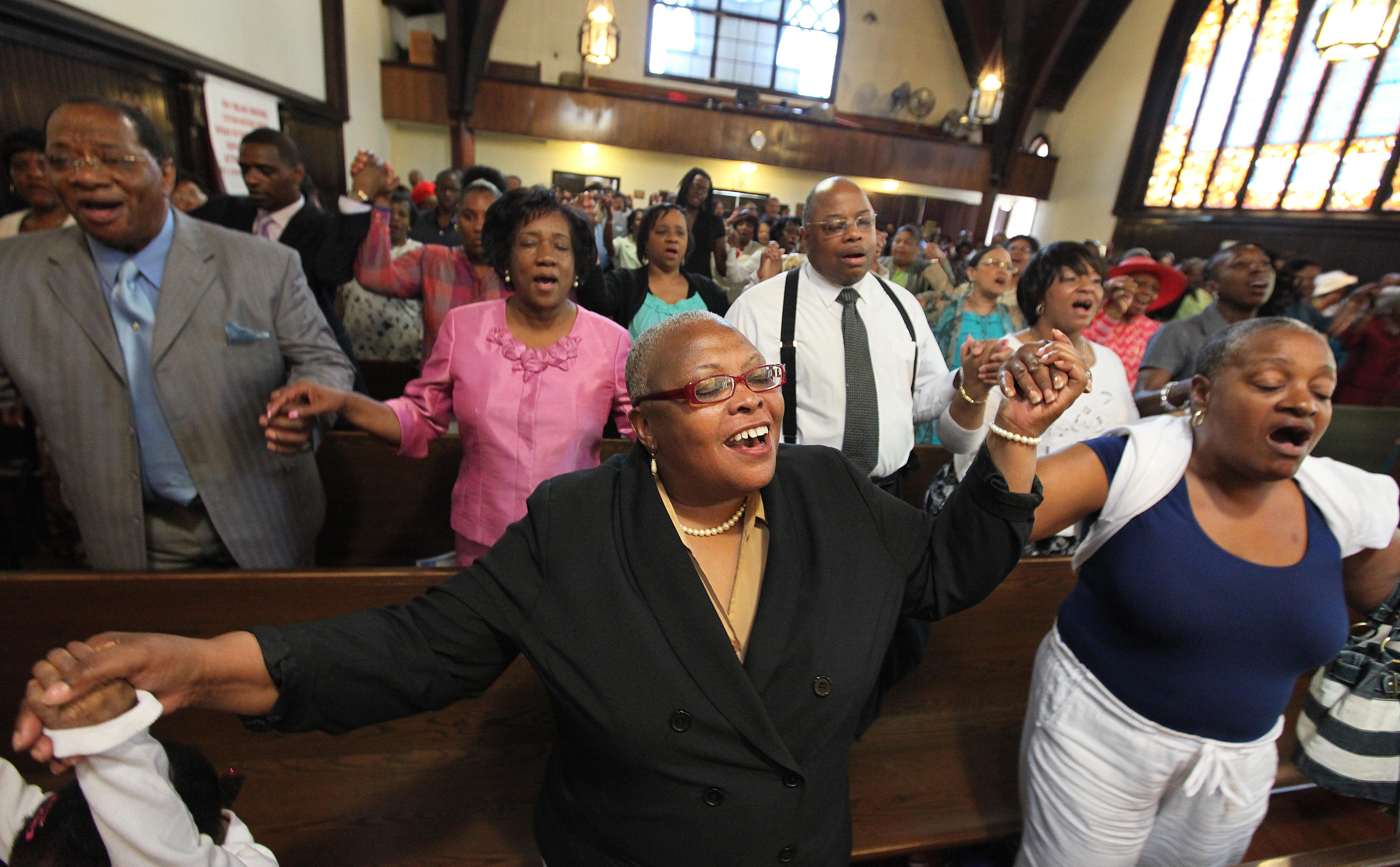 Sunday Service At Grant AME Church