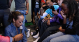 Actress Essence Atkins Washes The Feet Of A 'Sister' [VIDEO]