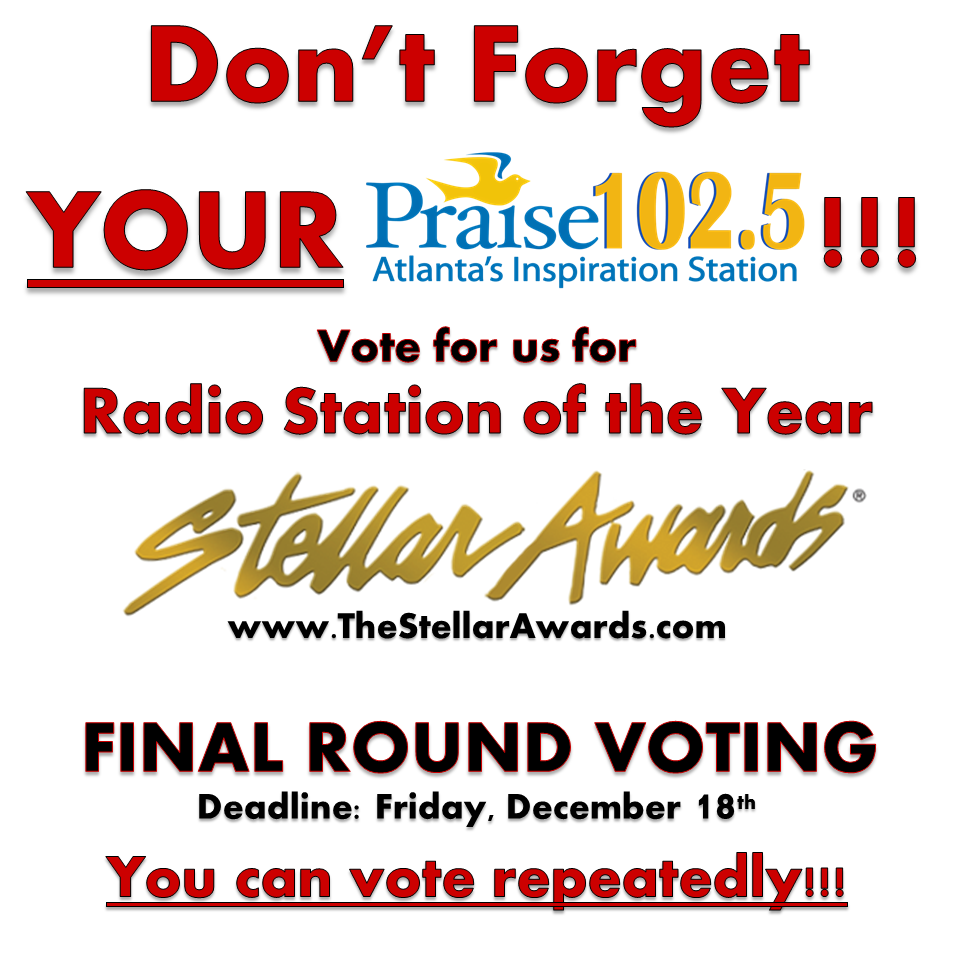 Praise 102.5 Stellar Awards Voting