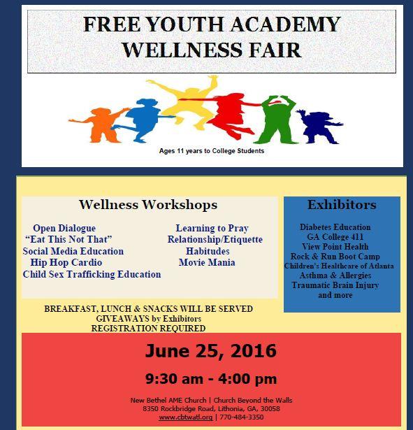 Free Youth Academy Wellness Fair