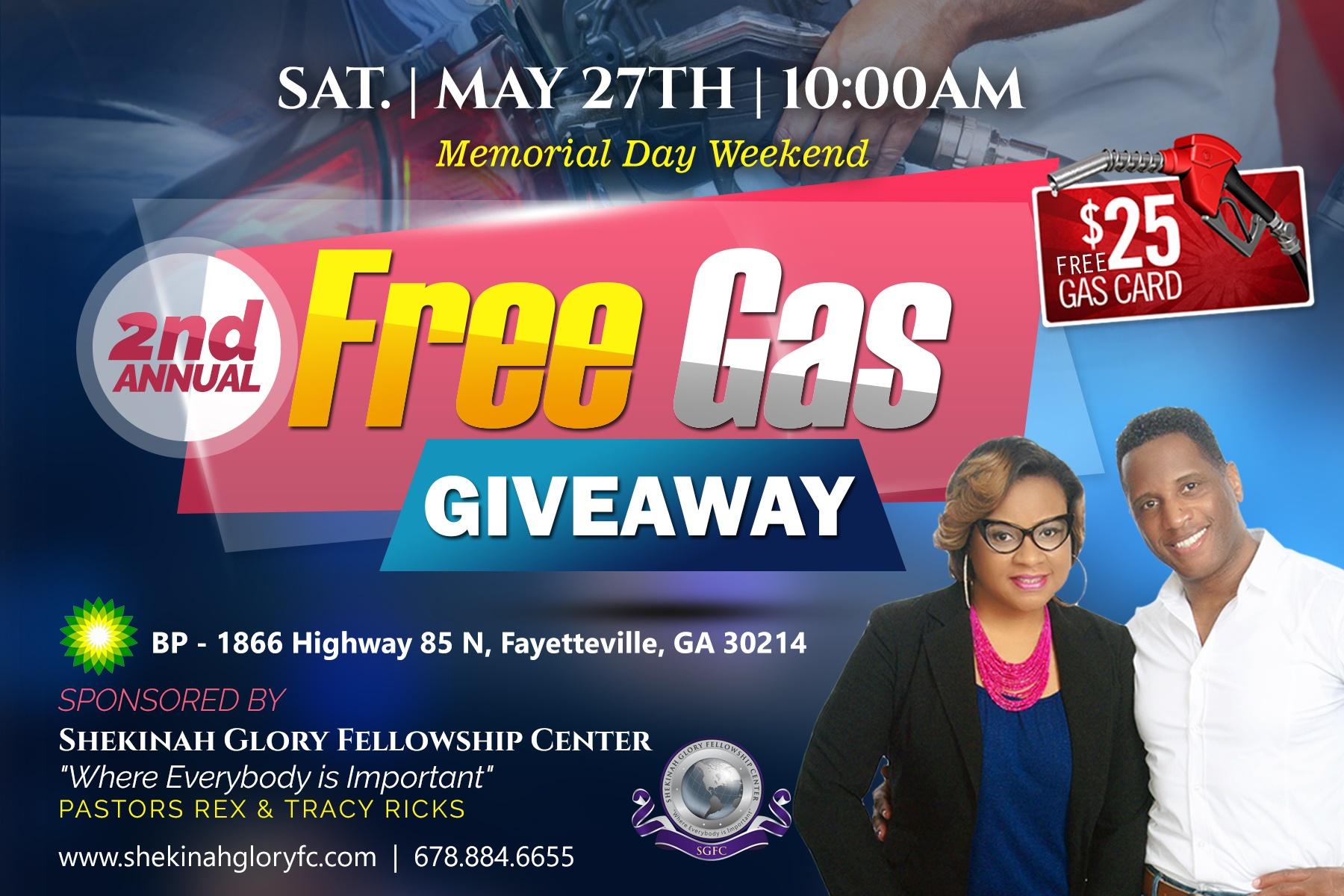 Shekinah Glory Fellowship Center Free Gas Giveaway