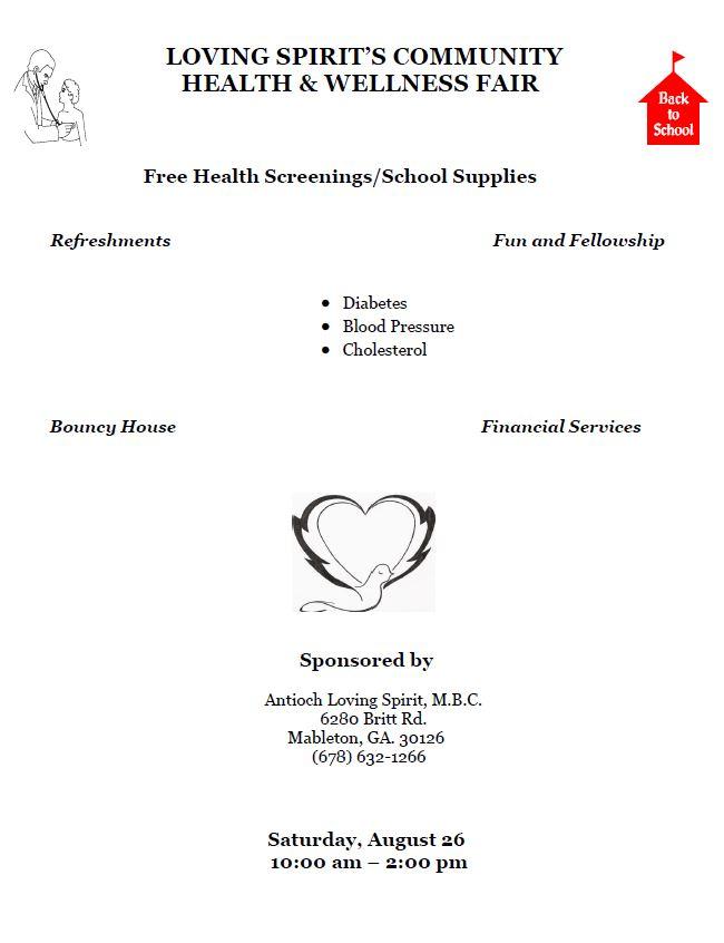 Loving Spirit Community Health And Wellness Fair