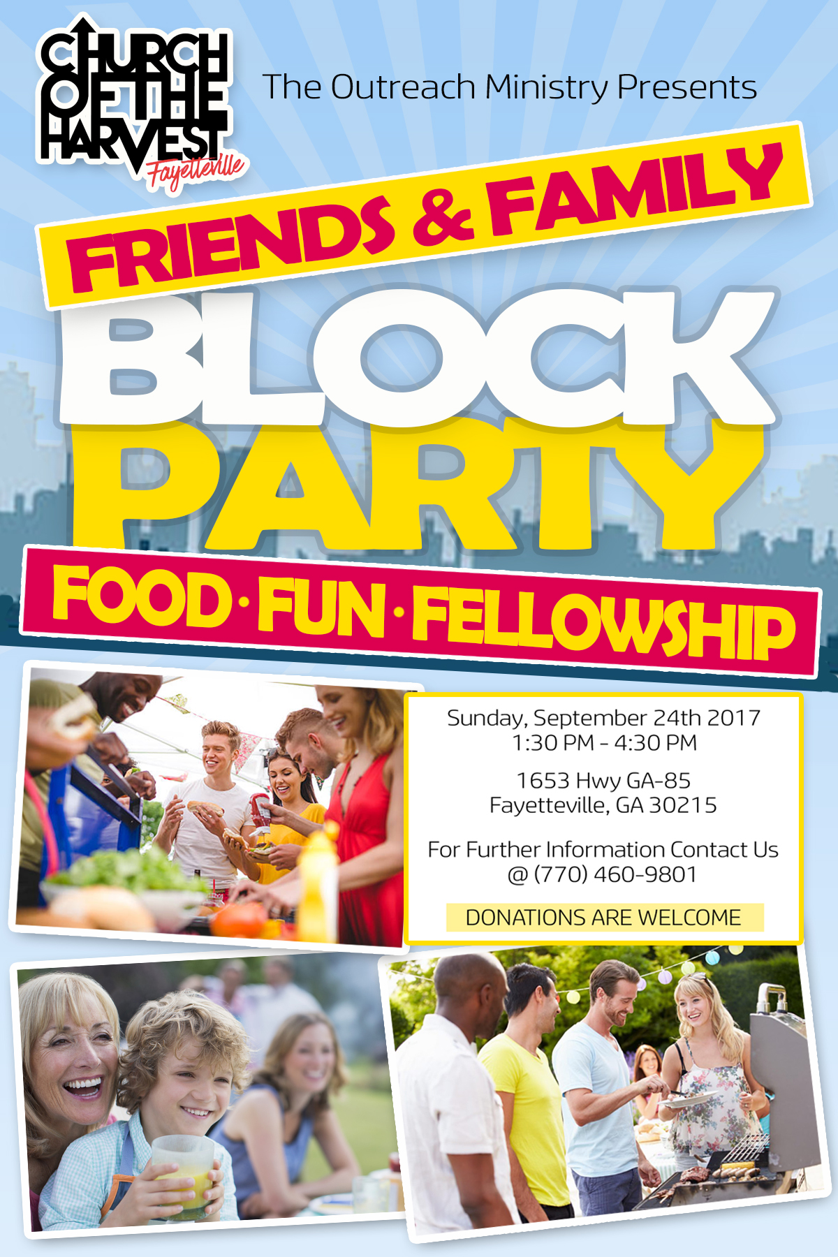 Church of the Harvest Friends And Family Block Party