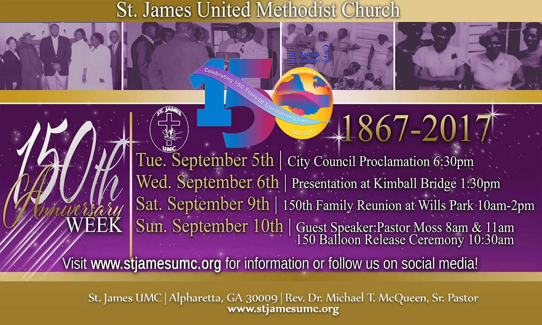 St. James United Methodist Church 150th Anniversary Week