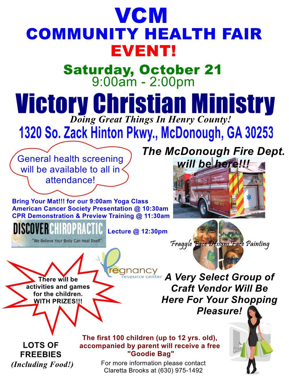 VCM Community Health Fair