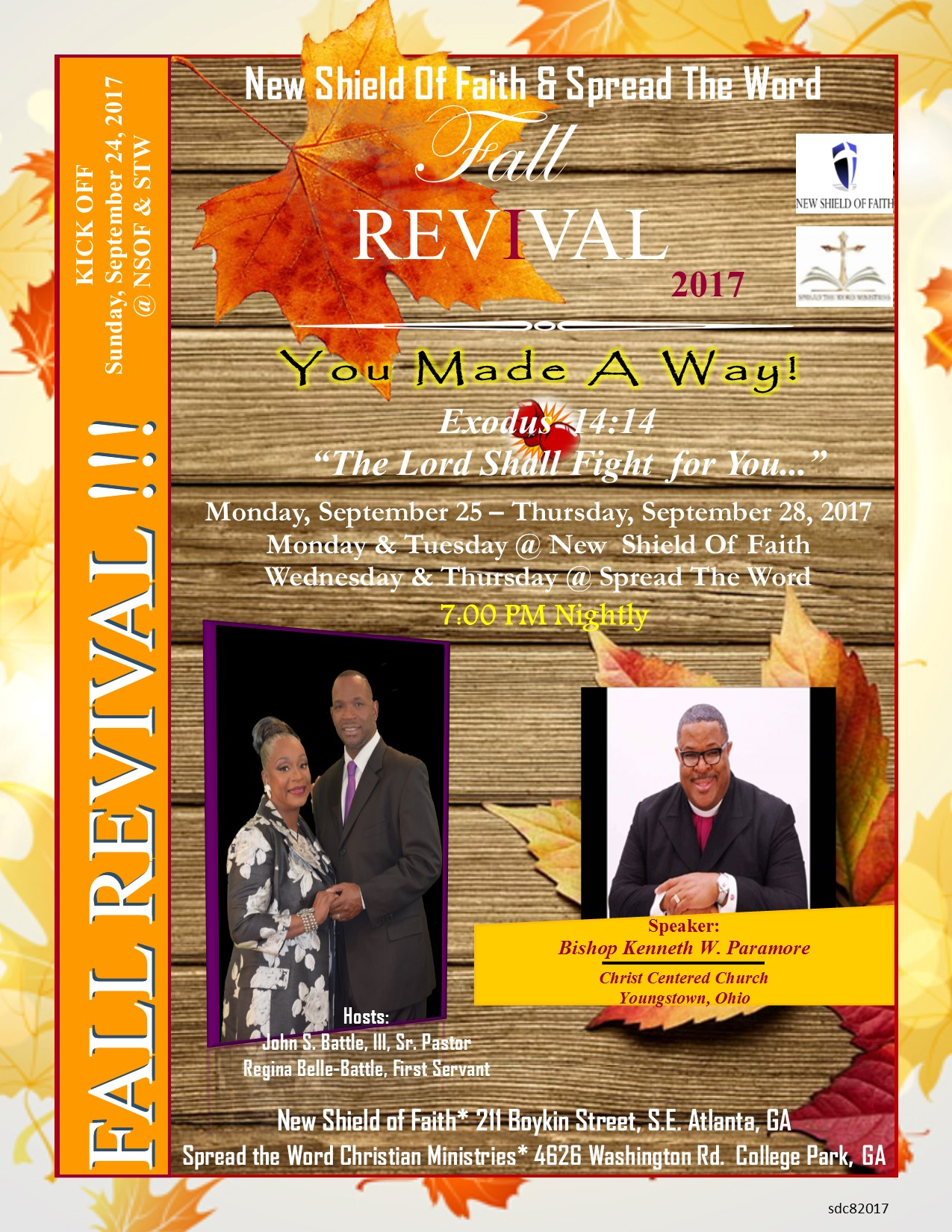 New Shield Of Faith Fall Revival