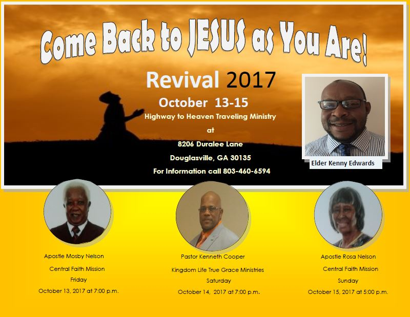 Come Back To Jesus As Your Are