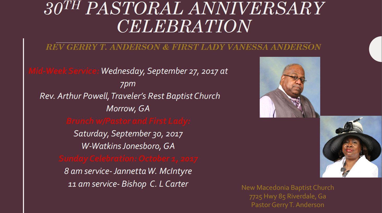 30th Pastoral Anniversary Celebration