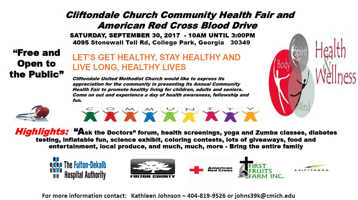 Cliftondale Church Community Health Fair And American Red Cross Blood Drive