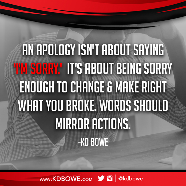 Be Sorry