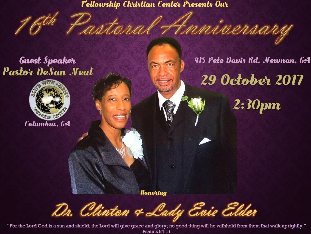 Fellowship Christian Center 16th Pastoral Anniversary