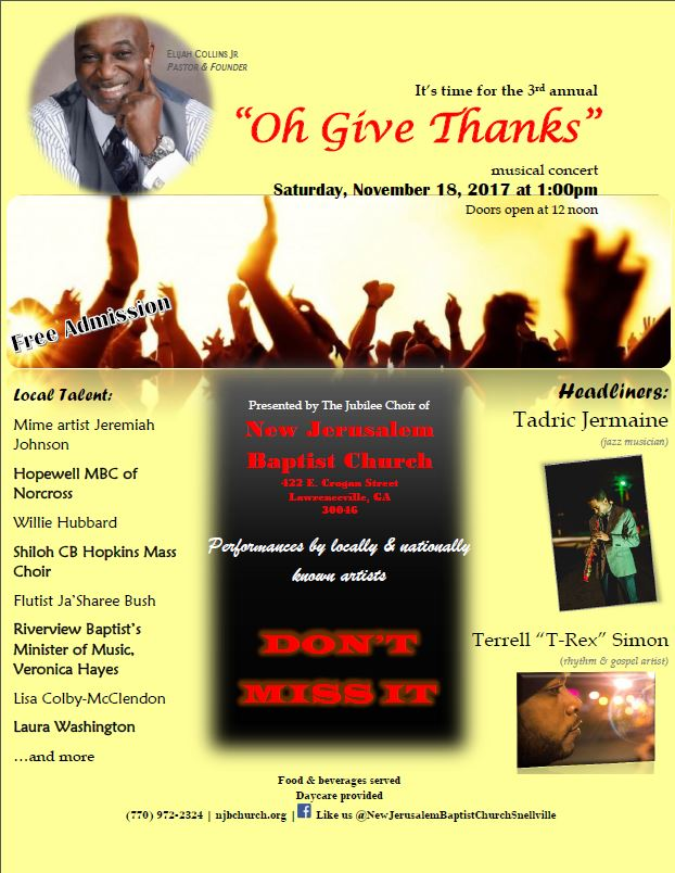 Oh Give Thanks Musical Concert