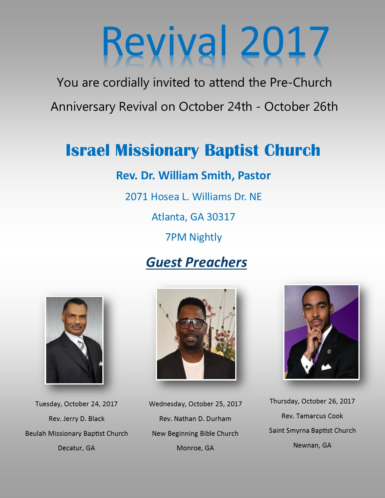 Israel Missionary Baptist Church Revival
