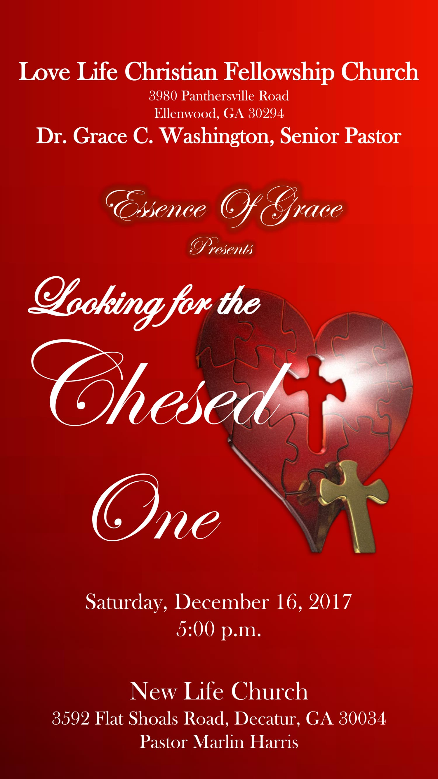 "Essence of Grace Presents: ""Looking for the Chesed One"""