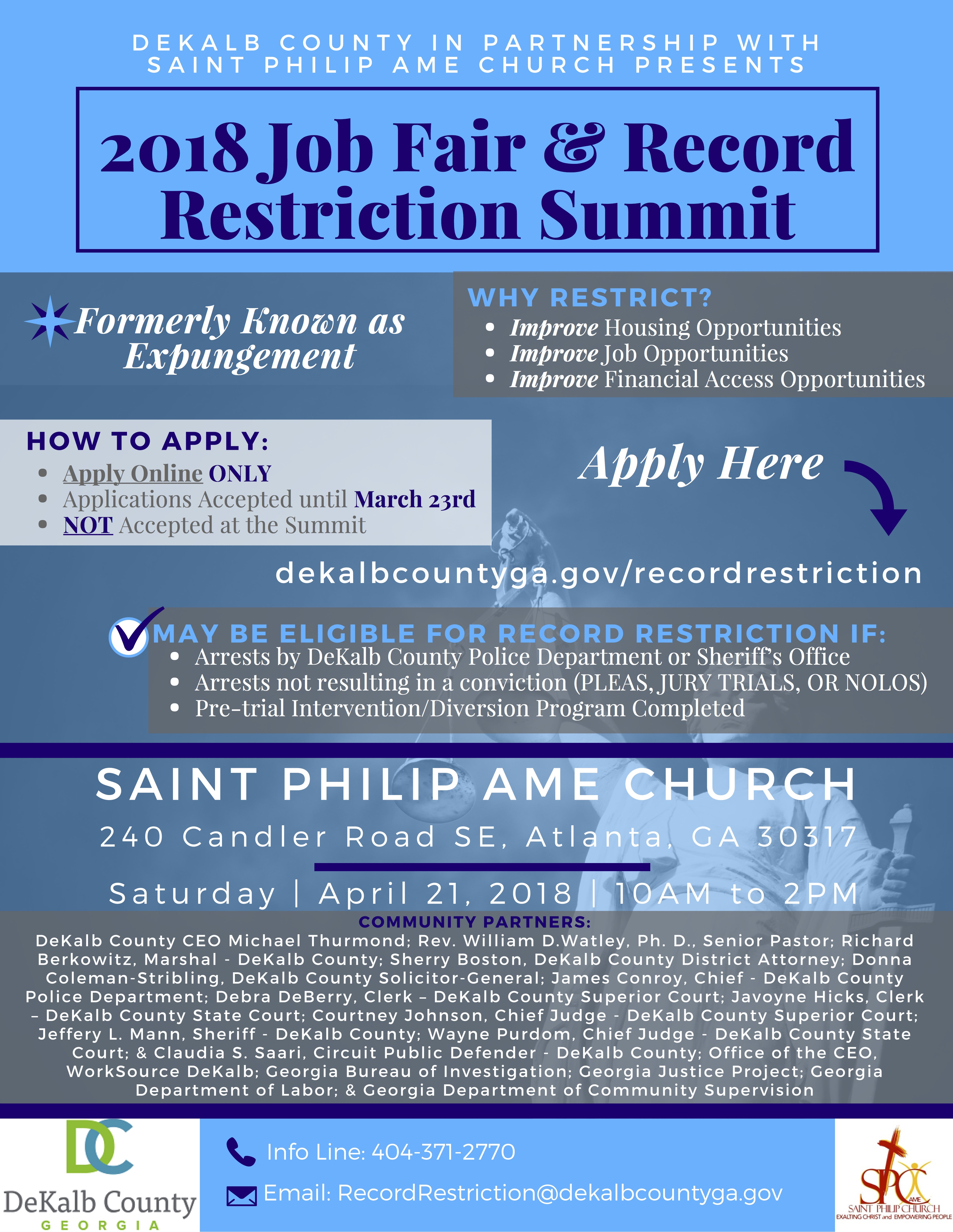 Criminal Record Restriction Summit