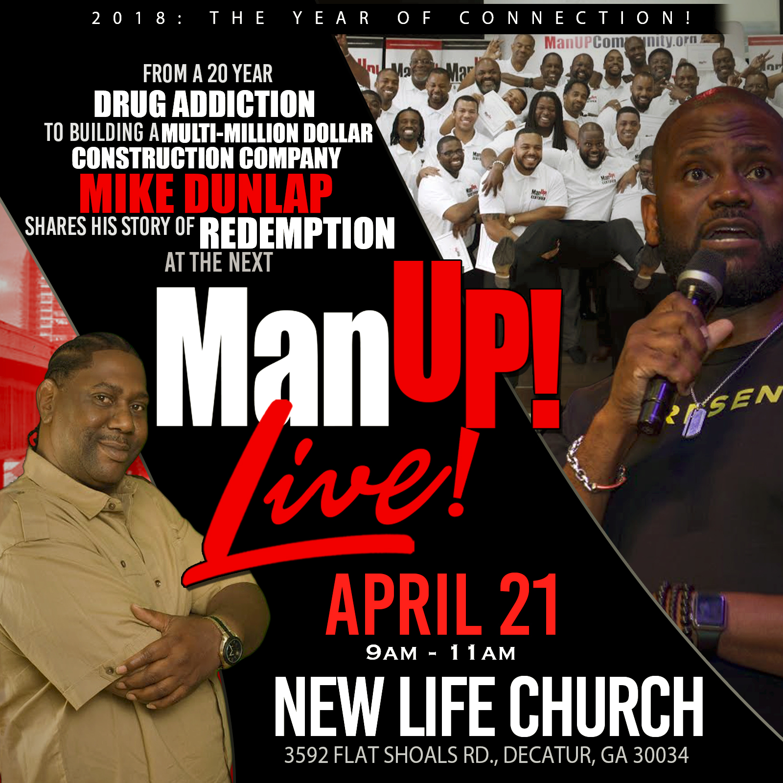 ManUP! Live: With Special Guest Mike Dunlap & Hosted By KD Bowe