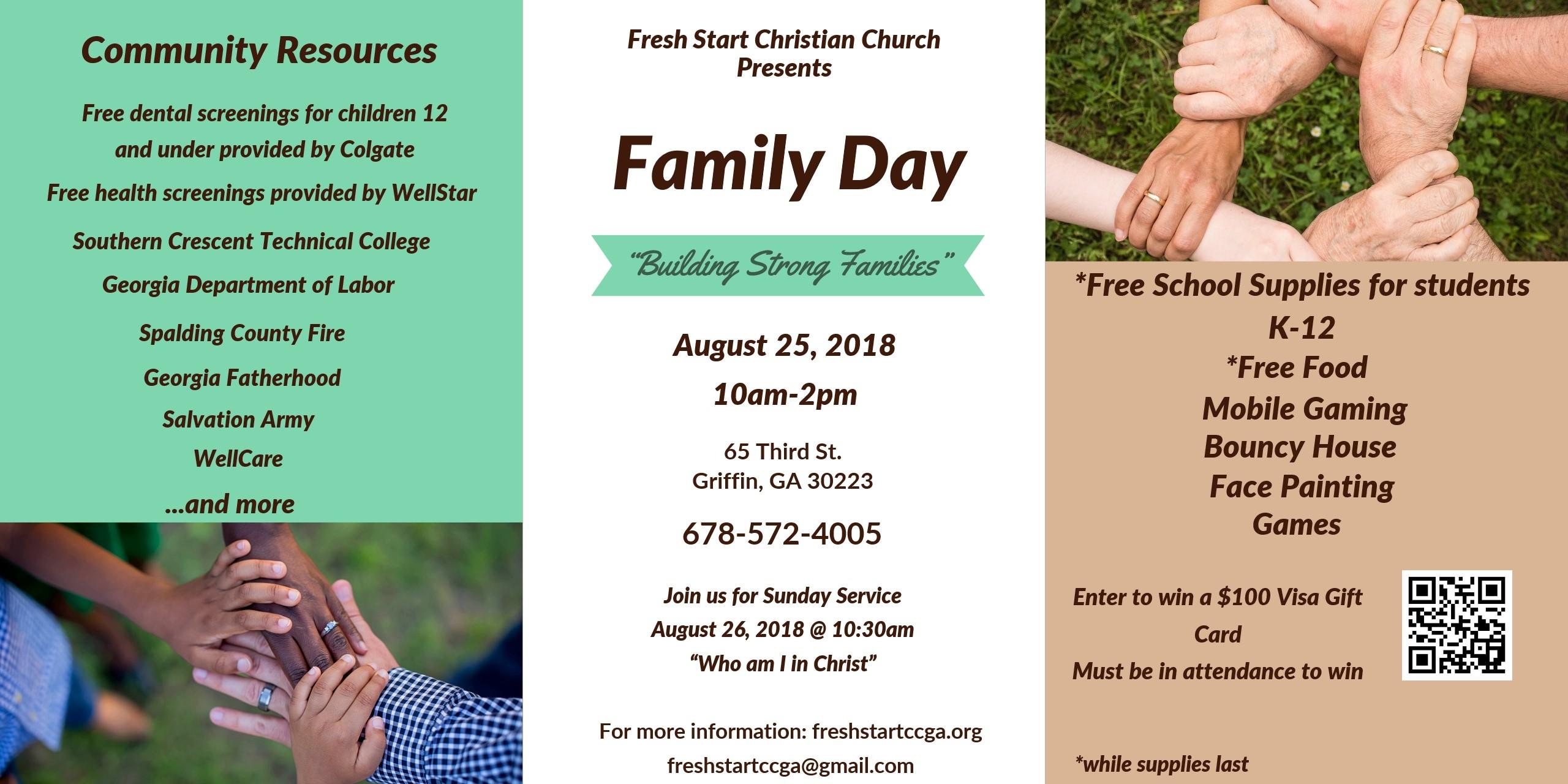 Fresh Start Family Day