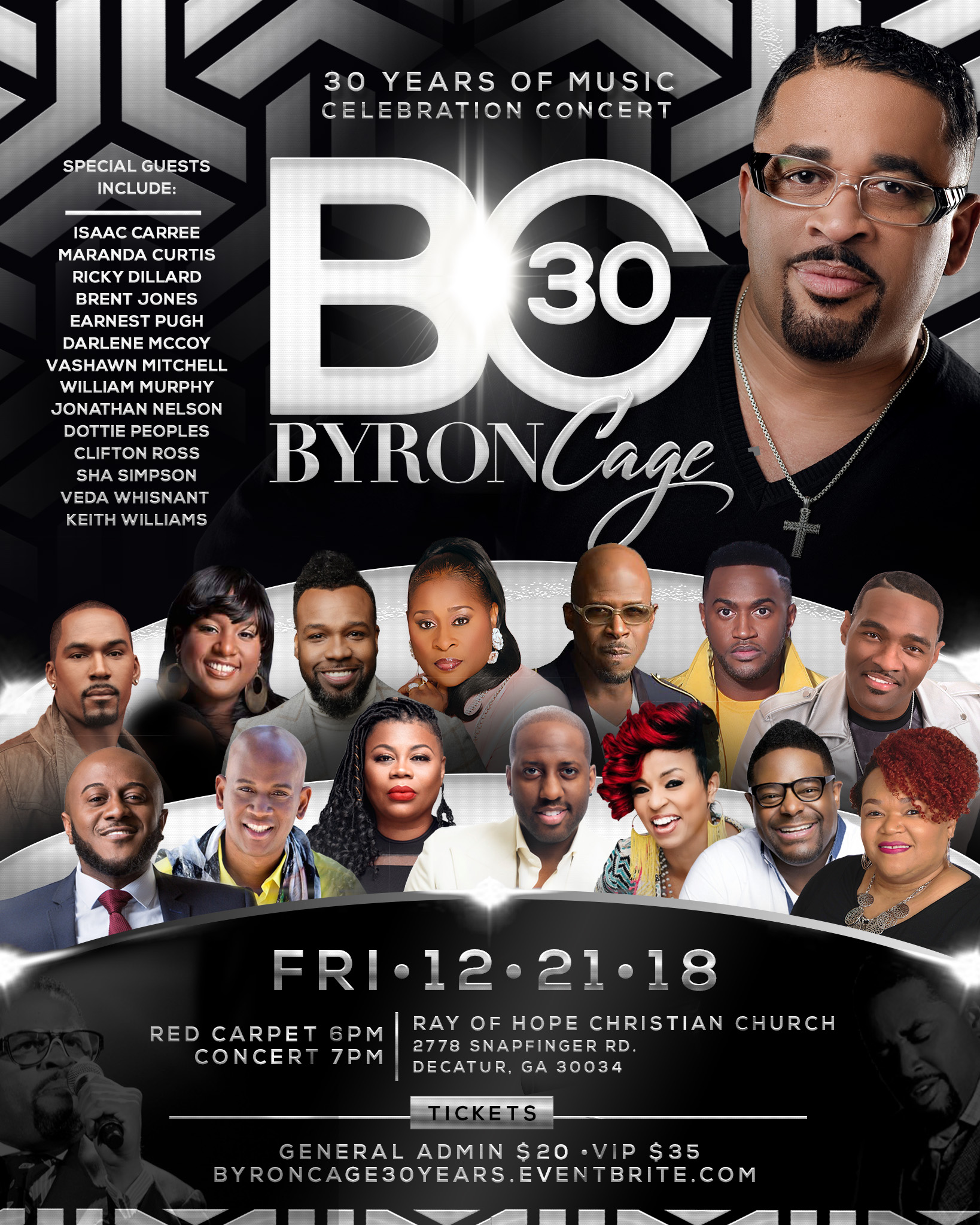 Byron Cage: 30 Year Musical Anniversary Concert