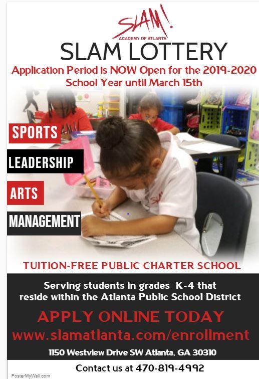 SLAM Academy of Atlanta Lottery | MyPraise 102 5, Atlanta