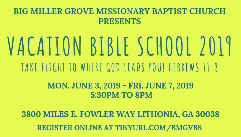 BMG Vacation Bible School