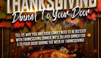Thanksgiving Dinner to Your Door Contest