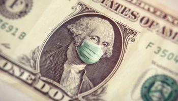 Coronavirus one dollar bill