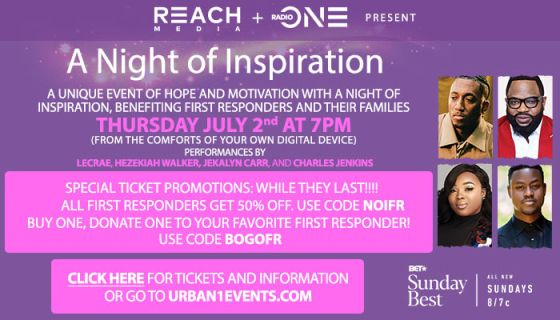 "Get Your E-Ticket Now! ""A Night of Inspiration"" Featuring Hezekiah Walker, Lecrae, Jekalyn Carr, Charles Jenkins & More"