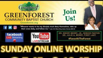 Greenforest Community Baptist Church | Sunday Online Worship